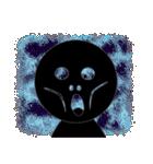 黒のフェイス(個別スタンプ:34)