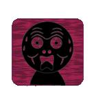 黒のフェイス(個別スタンプ:35)