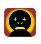 黒のフェイス(個別スタンプ:40)