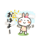 女子力UP!白うさぎさん日常パック(個別スタンプ:01)