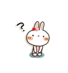 女子力UP!白うさぎさん日常パック(個別スタンプ:21)