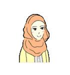 Lovely Aesha (Pastel Hijab)(個別スタンプ:01)