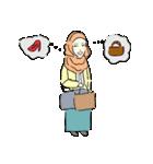 Lovely Aesha (Pastel Hijab)(個別スタンプ:04)