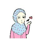 Lovely Aesha (Pastel Hijab)(個別スタンプ:06)