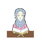 Lovely Aesha (Pastel Hijab)(個別スタンプ:07)