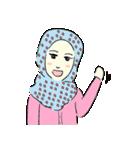 Lovely Aesha (Pastel Hijab)(個別スタンプ:08)