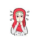 Lovely Aesha (Pastel Hijab)(個別スタンプ:11)