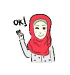 Lovely Aesha (Pastel Hijab)(個別スタンプ:12)