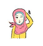 Lovely Aesha (Pastel Hijab)(個別スタンプ:13)