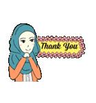 Lovely Aesha (Pastel Hijab)(個別スタンプ:17)