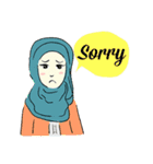 Lovely Aesha (Pastel Hijab)(個別スタンプ:19)