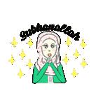 Lovely Aesha (Pastel Hijab)(個別スタンプ:22)