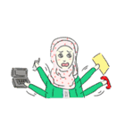 Lovely Aesha (Pastel Hijab)(個別スタンプ:23)