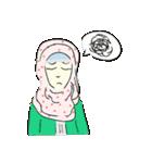Lovely Aesha (Pastel Hijab)(個別スタンプ:24)