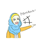 Lovely Aesha (Pastel Hijab)(個別スタンプ:25)