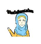 Lovely Aesha (Pastel Hijab)(個別スタンプ:27)