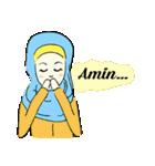 Lovely Aesha (Pastel Hijab)(個別スタンプ:28)