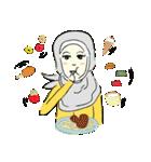 Lovely Aesha (Pastel Hijab)(個別スタンプ:29)