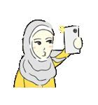 Lovely Aesha (Pastel Hijab)(個別スタンプ:30)
