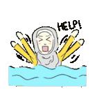 Lovely Aesha (Pastel Hijab)(個別スタンプ:32)