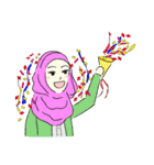 Lovely Aesha (Pastel Hijab)(個別スタンプ:33)