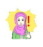 Lovely Aesha (Pastel Hijab)(個別スタンプ:34)