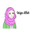 Lovely Aesha (Pastel Hijab)(個別スタンプ:35)