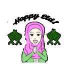 Lovely Aesha (Pastel Hijab)(個別スタンプ:36)