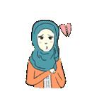 Lovely Aesha (Pastel Hijab)(個別スタンプ:37)