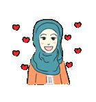 Lovely Aesha (Pastel Hijab)(個別スタンプ:38)