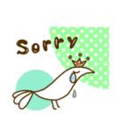 スタイリッシュな鳥(個別スタンプ:10)