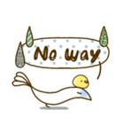スタイリッシュな鳥(個別スタンプ:15)
