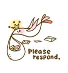 スタイリッシュな鳥(個別スタンプ:35)