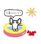 夏の大人かわいいシュールな黒ネコ★(個別スタンプ:4)