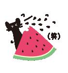 夏の大人かわいいシュールな黒ネコ★(個別スタンプ:19)