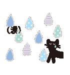 夏の大人かわいいシュールな黒ネコ★