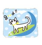 夏の大人かわいいシュールな黒ネコ★(個別スタンプ:27)