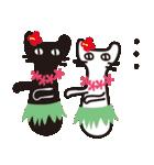 夏の大人かわいいシュールな黒ネコ★(個別スタンプ:31)