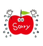 やさしい気づかいリンゴ。(個別スタンプ:16)