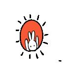 筆ペン兎2(個別スタンプ:01)