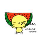 夏の思い出ヒヨコ(個別スタンプ:08)