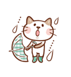 手描き風!ネコねこ日常スタンプ(個別スタンプ:30)
