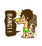 ラブラブカップル女の子の夏!(個別スタンプ:02)