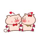 大好き!ブタちゃんカップル!(個別スタンプ:04)