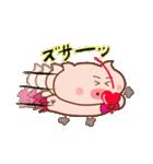 大好き!ブタちゃんカップル!(個別スタンプ:08)