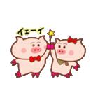 大好き!ブタちゃんカップル!(個別スタンプ:09)