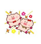 大好き!ブタちゃんカップル!(個別スタンプ:10)