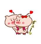 大好き!ブタちゃんカップル!(個別スタンプ:13)