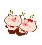 大好き!ブタちゃんカップル!(個別スタンプ:26)