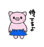 フラぶぅガール vol.3 Blue skirt(個別スタンプ:24)